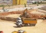 Retiro de escombros, movimiento de tierra
