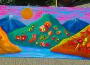 """Cuadro artístico """"desde las montañas de pisco elqui"""""""