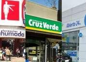 Traspaso derechos 3 farmacias y 2 drugstores de marcas