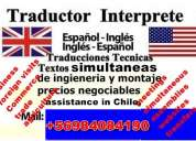 traductor interprete ingles técnico todo chile