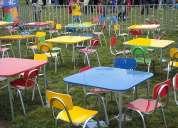 Arriendo sillas y mesas para cumpleaÑos infantiles 61908923