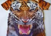 Poleras exclusivas con impresion 3d diseÑo tigre
