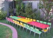 Arriendo cumpleaÑos de niÑos mesas y sillas infantiles