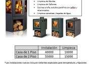 Servicio de mantención e instalación de estufas de combustión lenta a leña