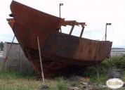 Excelente casco de lancha pesquera