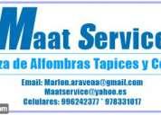 Maatservice limpieza de alfombras y tapices celular/whatsapp: 996242377 * 978331017