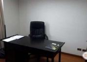 Excelente oficina con servicios extras en  edificio los presidentes santiago centro