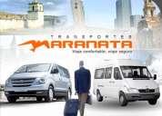 Transporte privado de pasajeros, traslado de personal, turismo.