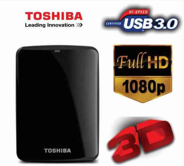 Disco Duro Externo Toshiba Nuevo 1TB lleno de Películas