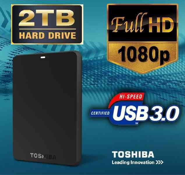 Disco Duro Externo Toshiba Nuevo 2TB Lleno de Peliculas