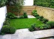 Construccion de jardines,diseño de jardines y riego para jardines v region