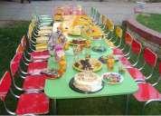 Arriendo mesas y sillas para cumpleaÑos infantiles 961908923