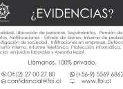Fb investigadores en chile servicios profesionales confidenciales