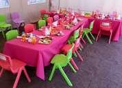 Arriendo de mesitas y sillitas para cumpleaÑos infantiles