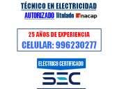 Electricista a domicilio las condes / técnico eléctrico certificado sec
