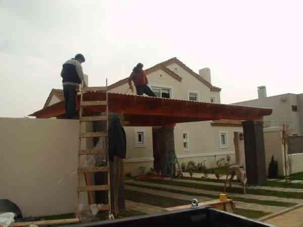 Cobertizos de madera, Pérgolas, Terrazas ¡Un día trabajamos en su casa!