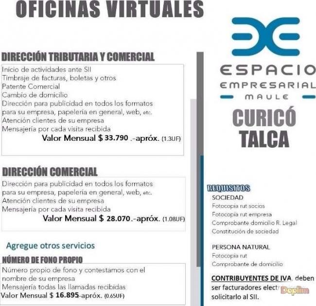 Arriendo de oficinas Virtuales y Físicas,Contactarse!