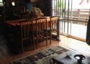Linda casa de madera amoblada