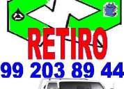 Desperdicios y cachureos retiro 992 03 89 44 todas comunas.---