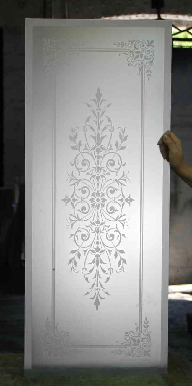 Cristales grabados al acido decorados para puertas y - Cristales decorados para puertas ...