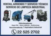 Venta, arriendo, servicio técnico y servicio de limpieza industrial