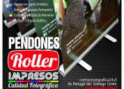 Pendones impresos full color 1440 dpi