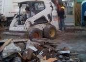 Retiró de escombro  limpieza de terreno demolición