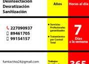 Urgencias fumigaciones/24 hrs.
