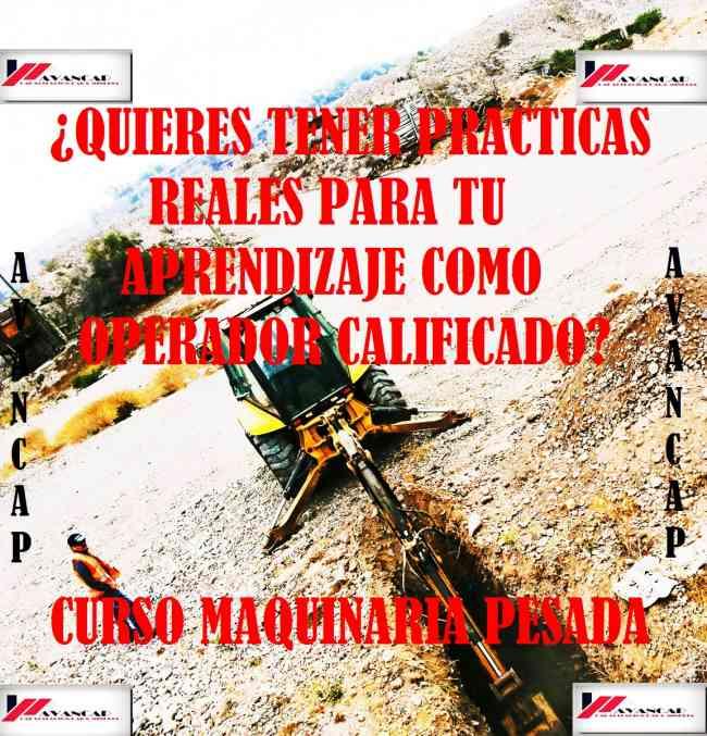 OPORTUNIDAD ESPECIAL CURSO 2X1 MAQUINARIA PESADA. NCH 2728