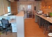 Arriendo excelente oficina amoblada 120 m2.