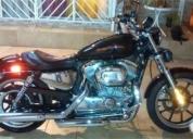 Excelente moto harley negra cromada casi nueva