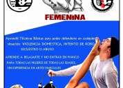 Clases defensa personal femenina