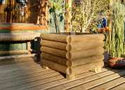 Macetas  jardineras de madera impregnada