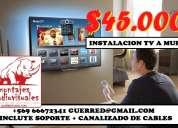 Instalacion tv viña valparaiso concon incluye soporte tv reñaca curauma limache particulares empre