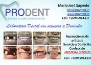 Prótesis dentales a domicilio, urgencias y reparaciones