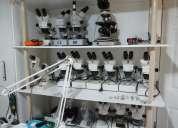 Reparacion de microscopios, telescopios, binoculares, brujulas, refractometros, etc.