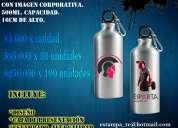 Regalos publicitarios, botella con logo o imagen corporativa, empresas, colegios.