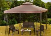 PÉrgola 3x3 color tabaco home collection