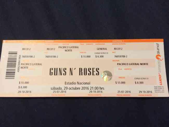Entrada Guns and Roses