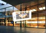 Pantallas led de transparente para  pared de vidrio y ventanas de tiendas