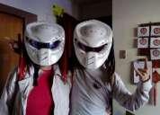 Excelente casco de moto depredador blanco
