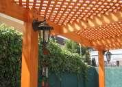Cobertizos, terrazas, pérgolas, decks, quinchos