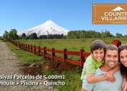 Country villarrica: oportunidad! exclusivas parcelas a 5 minutos del centro de villarrica