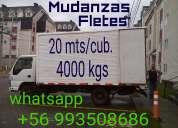 Mudanzas,fletes todo destino camión amplio cerrado.4000 kgs