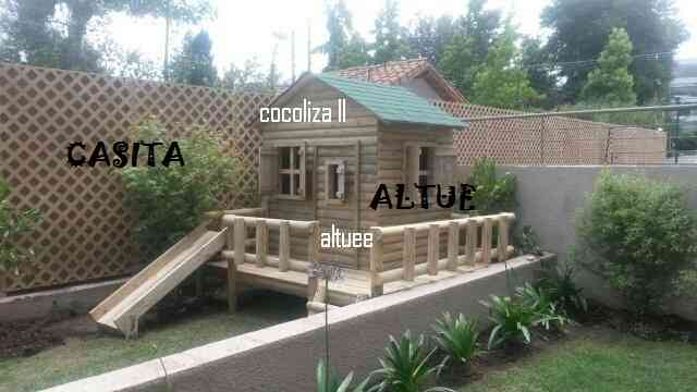 Juegos de madera y casa club para ni os altue algarrobo for Casas madera ninos jardin