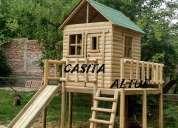 Hermosas casitas de muñecas y casa club madera impregnada