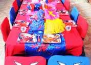 Arriendo de mobiliario para cumpleaños infantiles tematicos