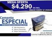Oferta cemento bsa  a 4290 despacho sobre 10 unidades