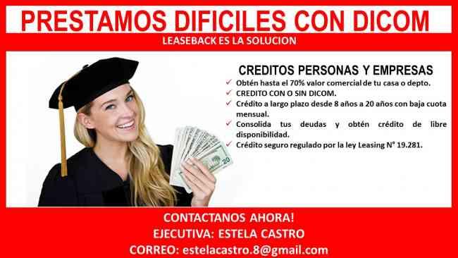 CHILE*LA OPORTUNIDAD que NECESITABAS teniendo: dicom!! CHILE. PRESTAMO