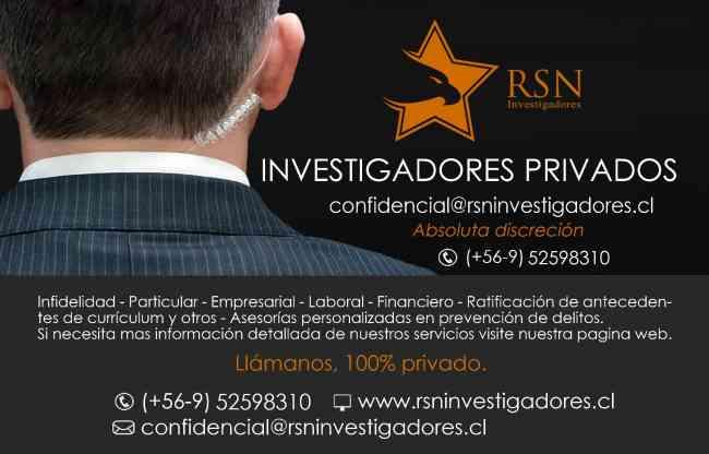 RSN INVESTIGADORES profesionales a cargo